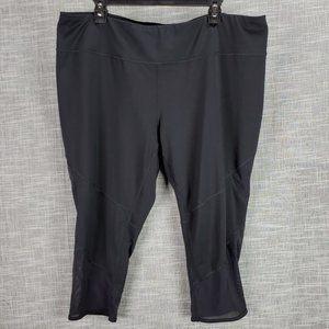 Tek Gear Athletic Crops Pants 2X Black w Mesh